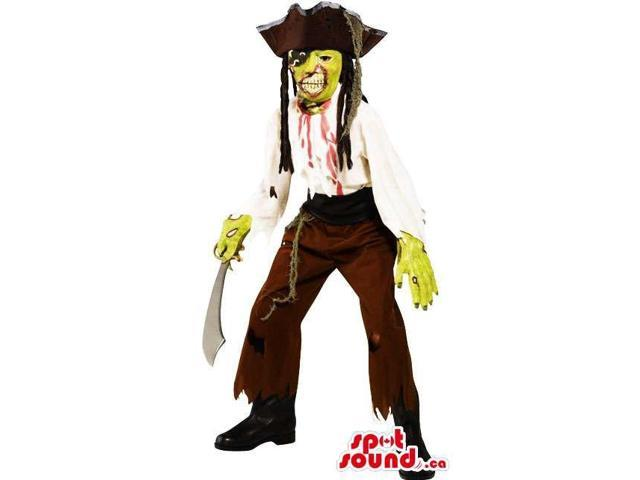 Fantastic Zombie Pirate Horror Adult Costume With A Sword