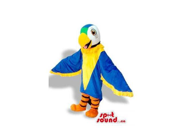 Blue And Yellow Bright And Flashy Parrot Plush Canadian SpotSound Mascot