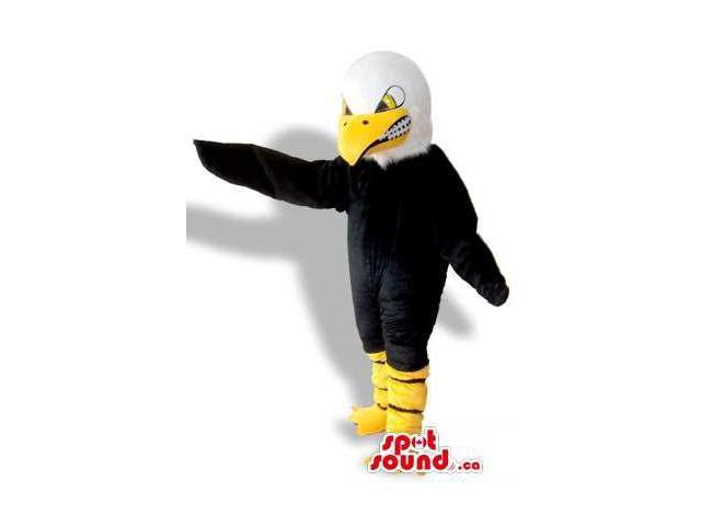 Angry Black And White American Eagle Bird Plush Canadian SpotSound Mascot