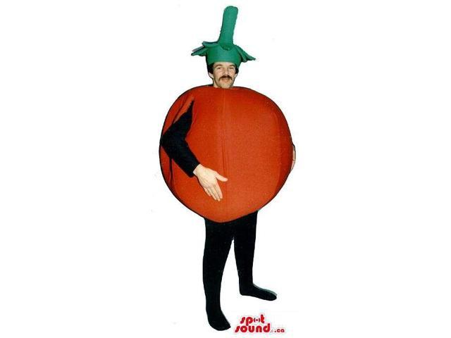 Large Red Tomato Vegetable Adult Size Costume Or Canadian SpotSound Mascot