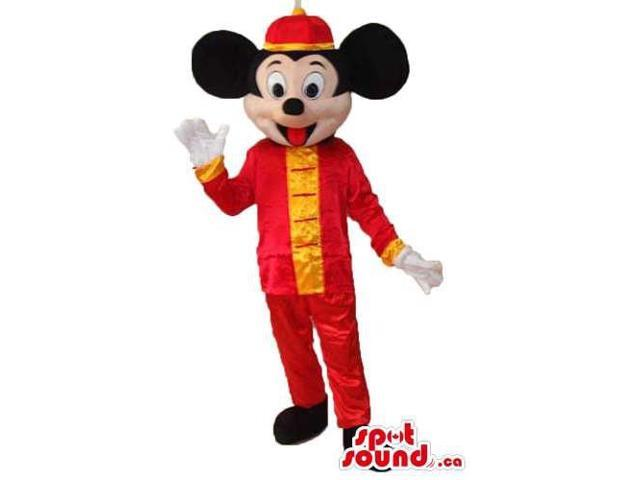 Mickey Mouse Disney Character With Oriental Shinny Gear