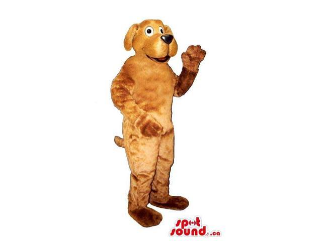 Customised All Brown Dog Plush Canadian SpotSound Mascot With A Fun Face