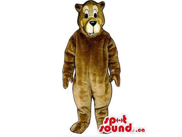 Customised Light Brown Bear Canadian SpotSound Mascot With Beige Face
