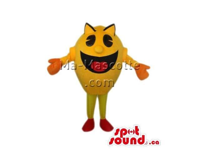 Pac-Man Iconic Famous And Legendary Video Game Canadian SpotSound Mascot