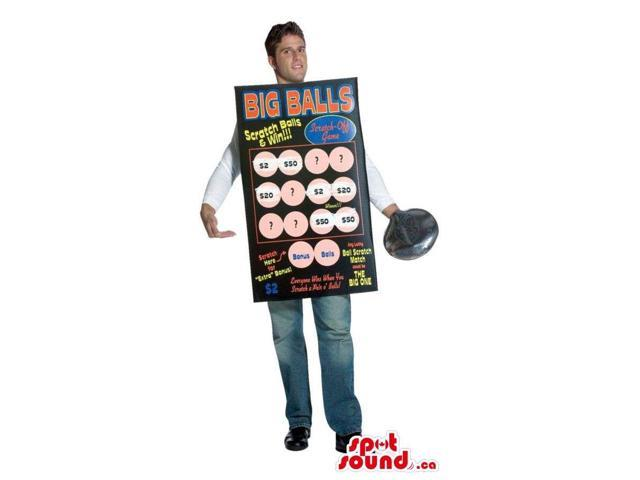 Hilarious Scratch And Win Lottery Game Card Adult Size Costume