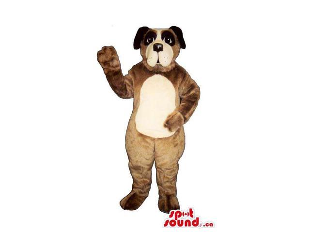 Brown Dog Plush Canadian SpotSound Mascot With A Beige Belly And Face