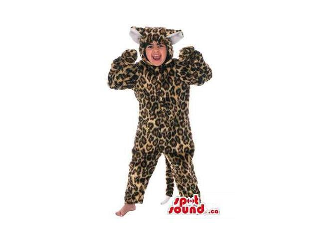 Leopard Jungle Animal Children Size Plush Costume