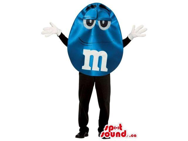 Shinny Blue M&M'S Brand Name Chocolate Snack Well-Known Canadian SpotSound Mascot