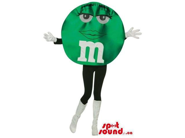 Shinny Green M&M'S Brand Name Chocolate Snack Well-Known Canadian SpotSound Mascot