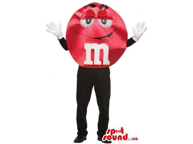 Shinny Red M&M'S Brand Name Chocolate Snack Well-Known Canadian SpotSound Mascot