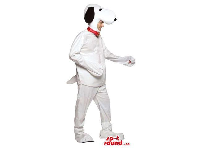 Large Snoopy White Dog Cartoon Character Adult Size Costume