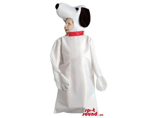 Large Snoopy White Dog Cartoon Character Toddler Size Costume