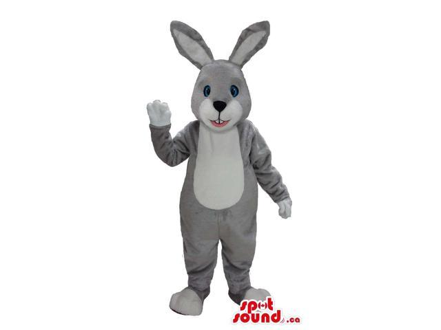 All And Customised Grey And White Easter Rabbit