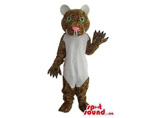 Cute Pattern Panther Plush Canadian SpotSound Mascot With A White Belly