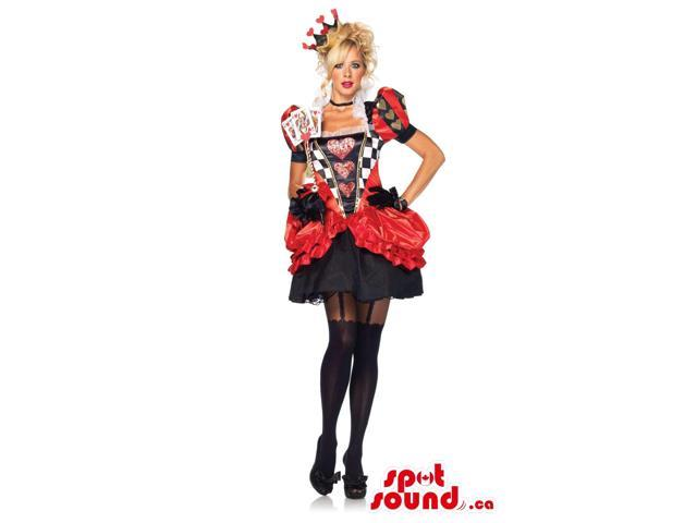 The Red Queen Alice In Wonderland Character Adult Size Costume