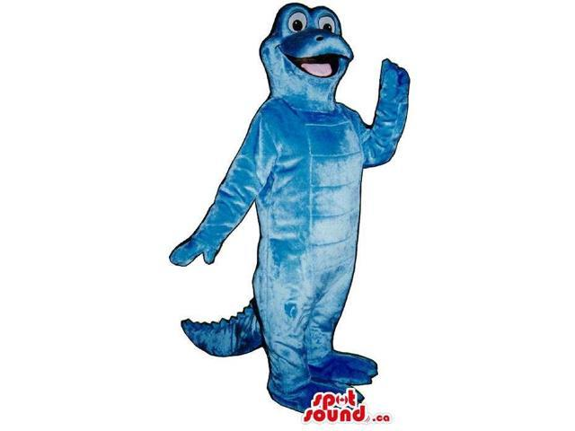 Customised All Cute All Blue Alligator Plush Canadian SpotSound Mascot
