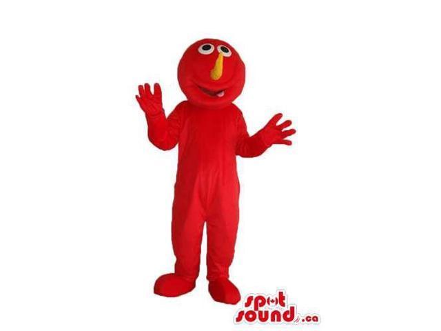Elmo Alike Character Plush Canadian SpotSound Mascot With Orange Nose