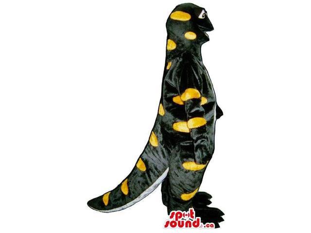 Cute Salamander Reptile Plush Canadian SpotSound Mascot With Yellow Dots