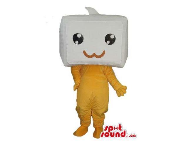 Cute Kawaiii Japan Marshmallow Box Head Plush Canadian SpotSound Mascot