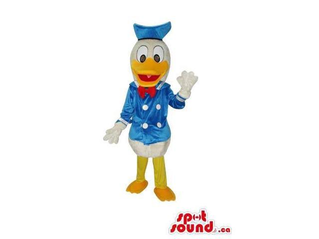 Well-Known Donald Duck Disney Character Plush Canadian SpotSound Mascot With Clothes