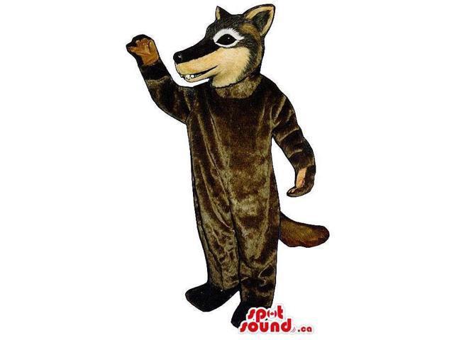 Customised Brown Wolf Animal Plush Canadian SpotSound Mascot