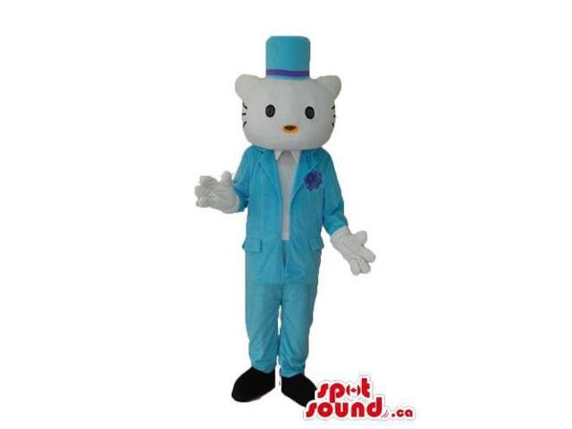 Kitty Cat Well-Known Cartoon Canadian SpotSound Mascot With Boy Blue Clothes