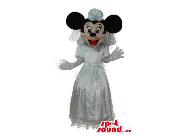 Minnie Mouse Disney Character Canadian SpotSound Mascot In A Bride Dress