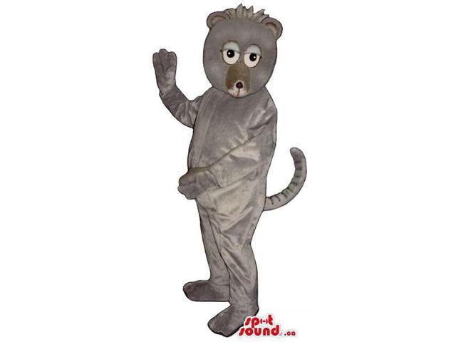Customised Cute Exotic Grey Monkey Animal Plush Canadian SpotSound Mascot