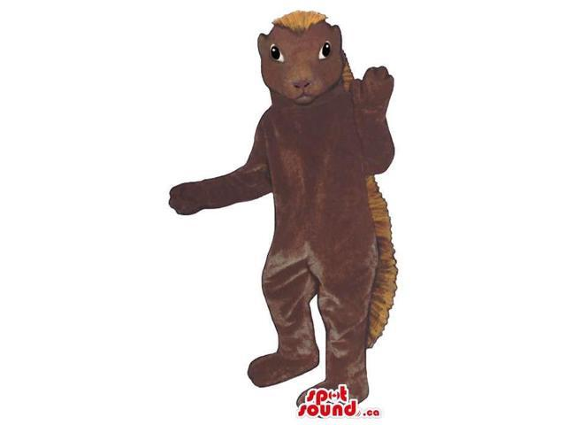 Customised Dark Brown Porcupine Plush Canadian SpotSound Mascot With Spines