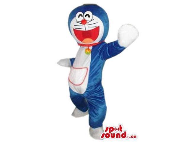 Doraemon Blue Galactic Cat Cartoon Character Plush Canadian SpotSound Mascot