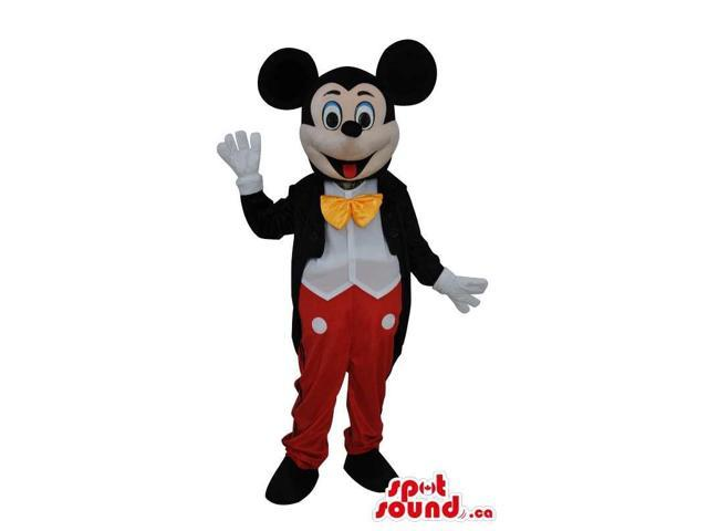 Mickey Mouse Disney Character With His Standard Clothes