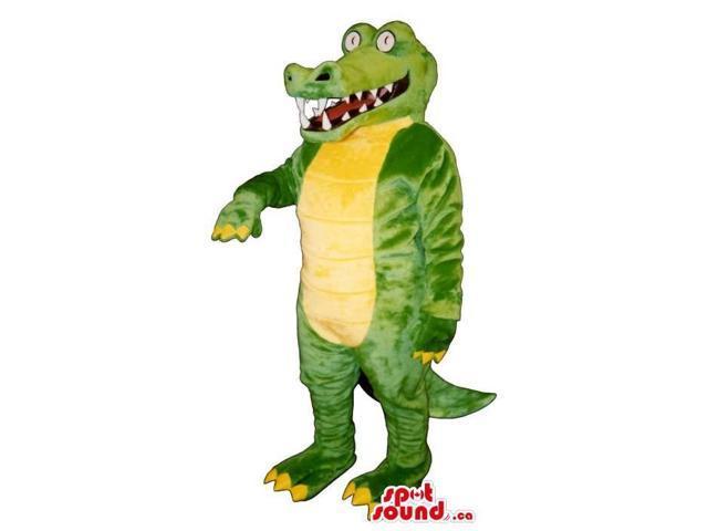 Lovely Green And Yellow Crocodile Animal Plush Canadian SpotSound Mascot