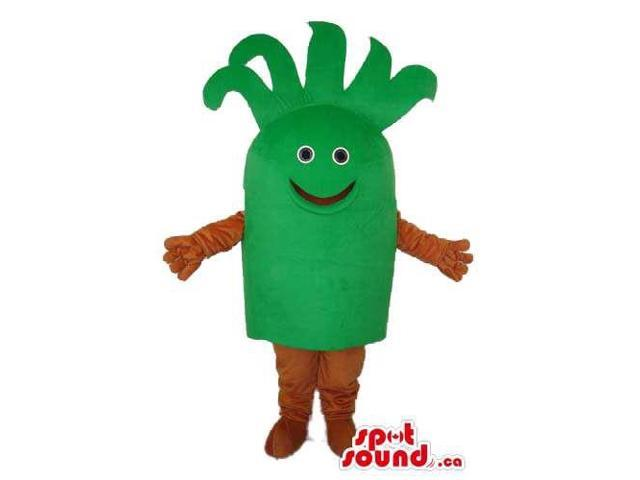Green Fairy-Tale Vegetable Plush Canadian SpotSound Mascot With A Cute Face
