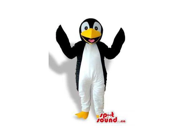Happy Penguin Animal Bird Plush Canadian SpotSound Mascot With A Smile
