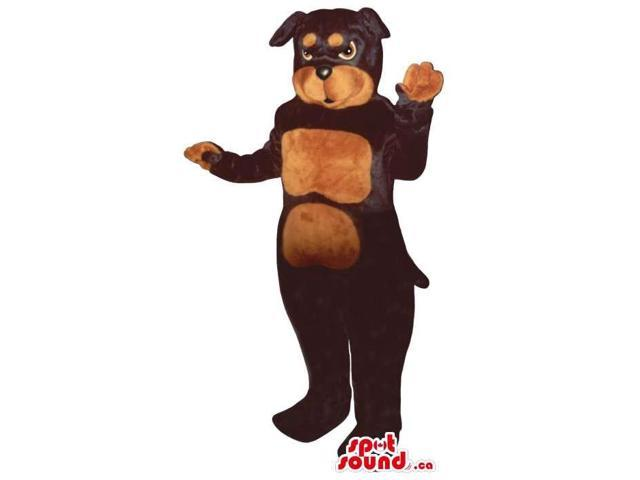 Brown And Black Rottweiler Breed Dog Pet Plush Canadian SpotSound Mascot