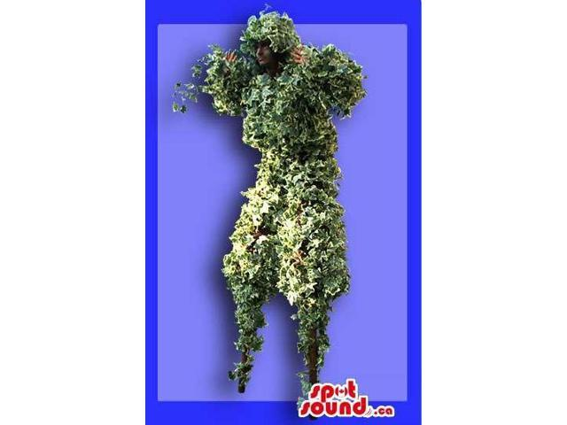 Great Grass Garden Man Adult Size Costume On Stilts