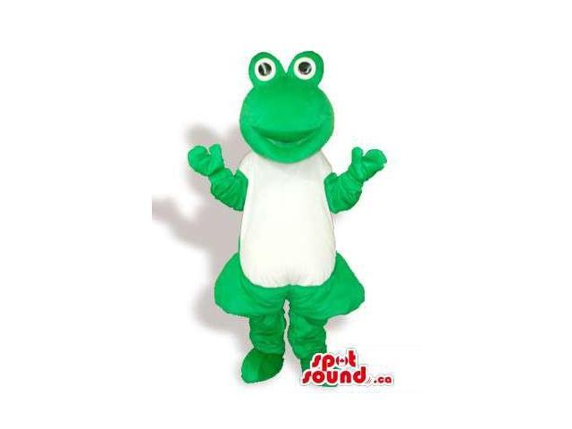 Customised Green Frog Plush Canadian SpotSound Mascot With A White Body