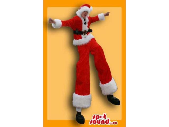 Great Santa Claus Christmas Adult Size Costume On Stilts