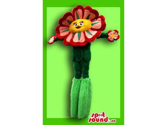 Great Big Spring Flower Adult Size Costume On Stilts