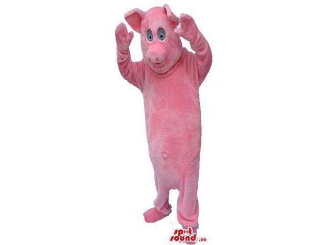 Customised Pink Pig Canadian SpotSound Mascot With Comfortable See-Through Eyes
