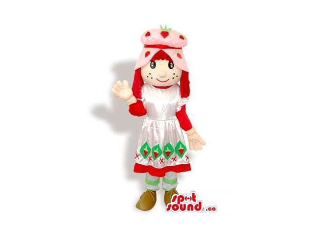 Strawberry Shortcake Girl Standard Cartoon Character Canadian SpotSound Mascot