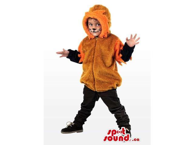 Cool Brown And Orange Lion Children Size Half-Length Costume