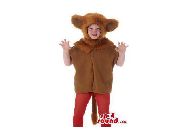 Cool Brown Lion Children Size Half-Length Costume