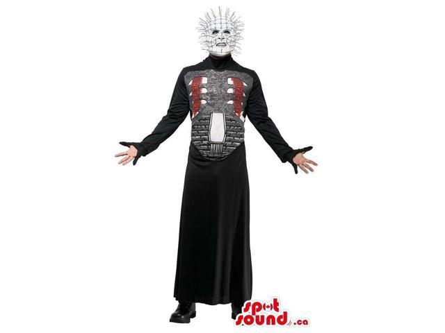 Customised Halloween Horror Adult Size Costume With Spiky Head