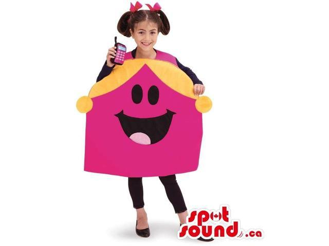 Pink And Yellow Mr. Men Cartoon Character Children Size Costume