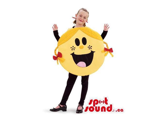 Yellow Mr. Men Cartoon Character Children Size Costume