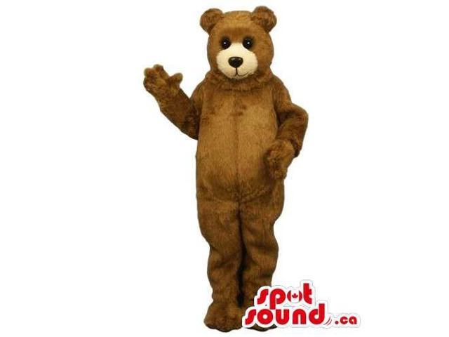 Customised Standard All Brown Teddy Bear Canadian SpotSound Mascot