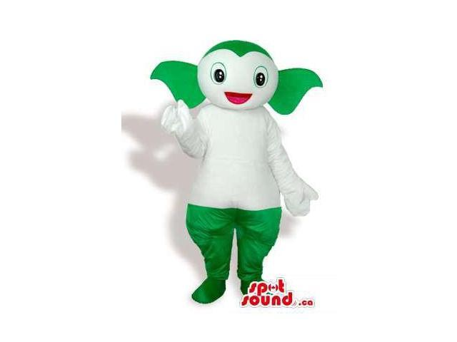 Customised Green Plush Alien Canadian SpotSound Mascot With A White Body