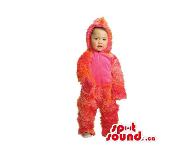 Customised Red Woolly Monster Children Size Plush Costume
