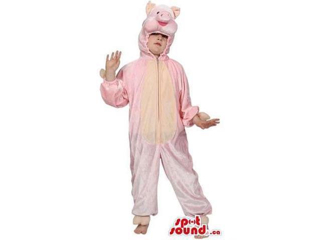 Customised Pink Pig Adult Size Plush Halloween Costume